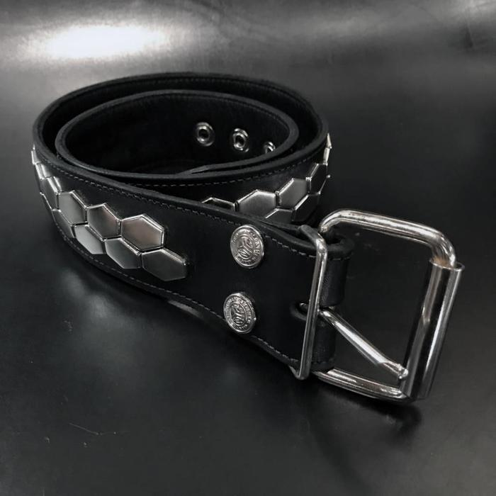 Hex Spot 2Row Studded Belt