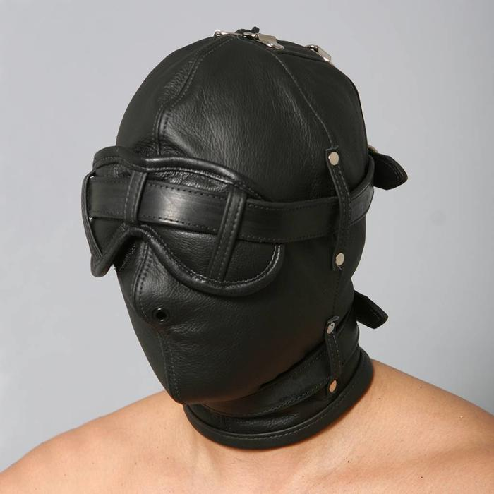 Hood, Full, Gag, Blindfold, Collar, 16
