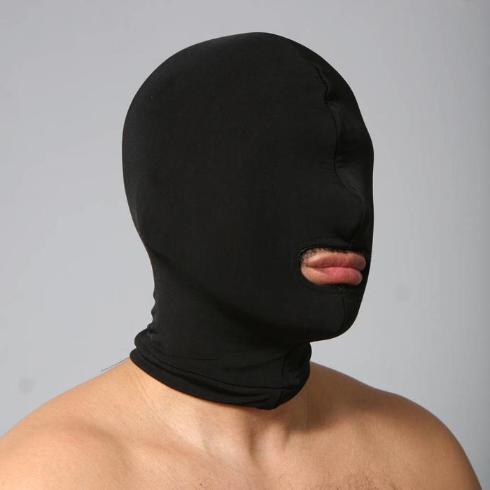 Hood, spandex, mouth hole only, double thickness