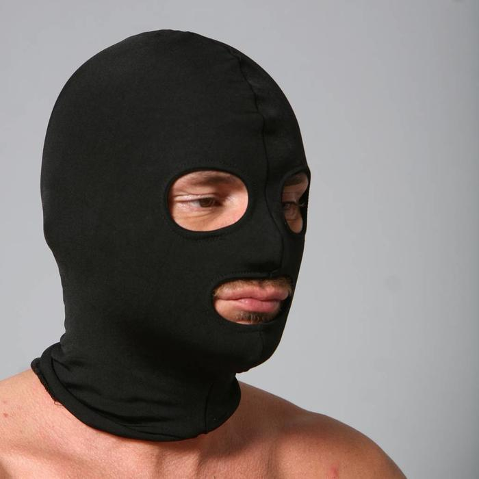 Hood, spandex, eyes & mouth holes