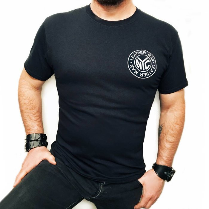 Leather Man Tee, Embroidered Logo