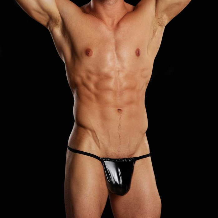 Male Power Posing Strap, Rubber