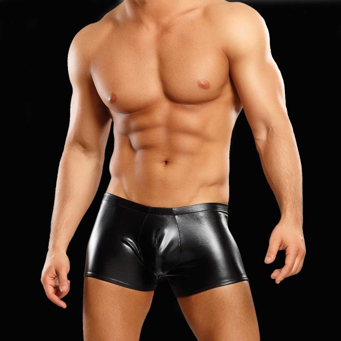Male Power Rubber Pouch Short