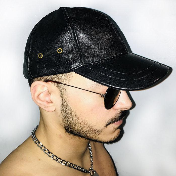 Cap, baseball, smooth garment, OSFA, Blk, Adjustable