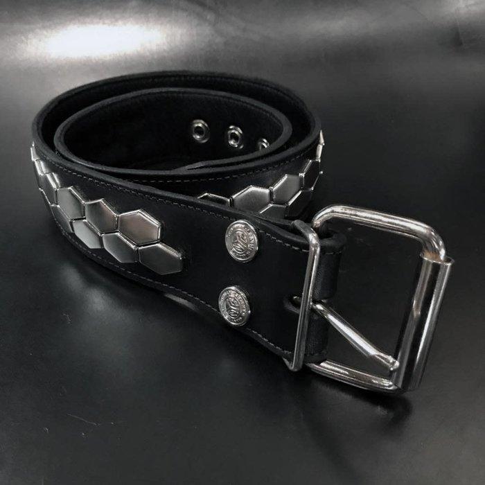 Hex Spot 2Row Studded Belt