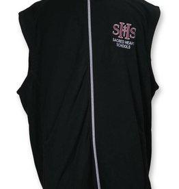 Ladies Microfleece Vest Blk