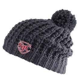 Headwear 4002 Chuncky Knit Hat w/pom