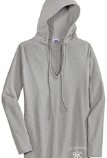 Clothing EDT241 V neck Hoodie Shirt Womens