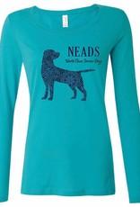Women's Long Sleeve T-shirt- Pattern Dog