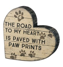 Sign-Heart Paw Prints