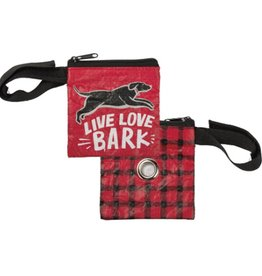 Pet Waste Bag Pouch- Live Love Bark