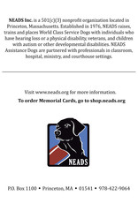 Memorial Cards-Sitting Dogs