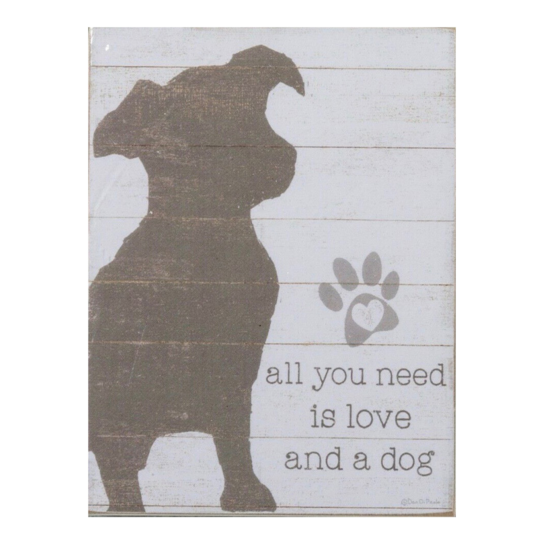 Magnet- Lg. Love & a Dog