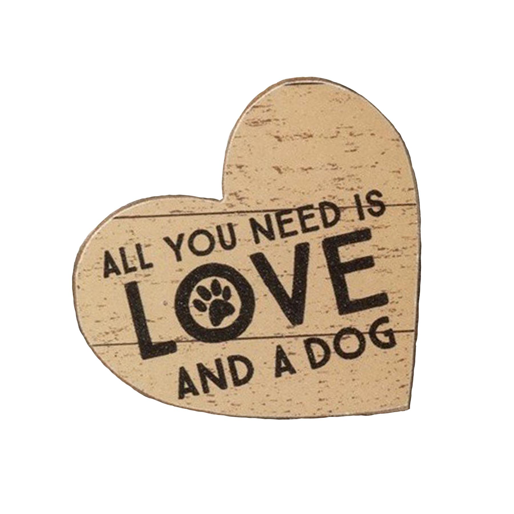Magnet- Sm. Love & a Dog