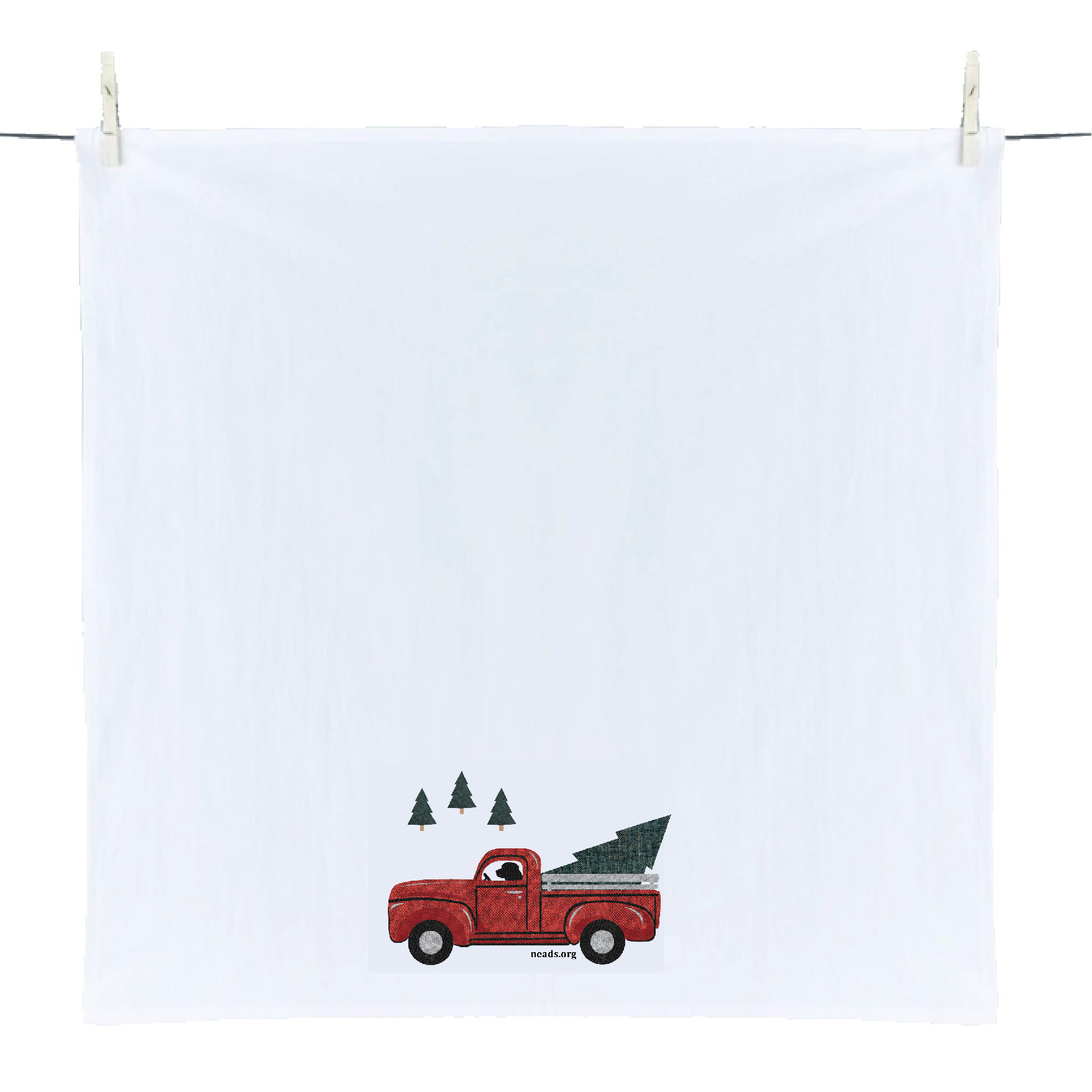 Dish Towel-Red Truck