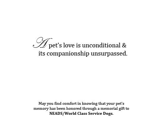Memorial Cards-Two Dogs