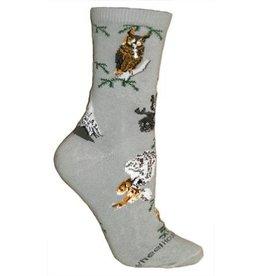 Socks - Owls on Gray