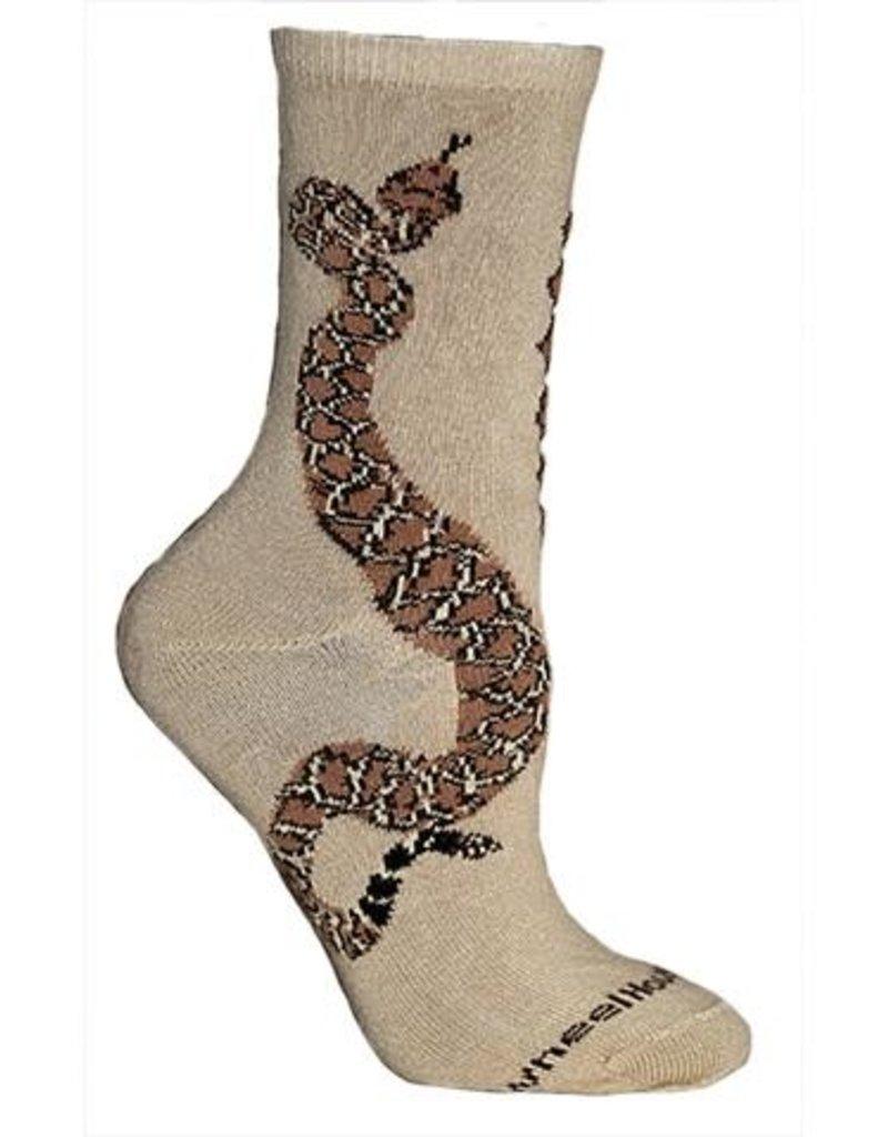Socks - snake on khaki
