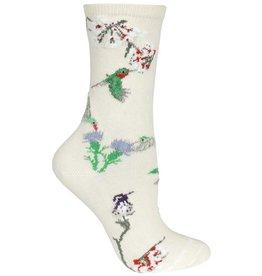 Socks - Hummingbirds on Cream