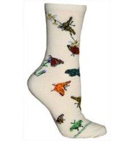 Socks - Butterflies on Cream