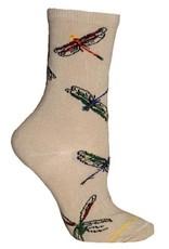 Socks - Dragonflies on Khaki