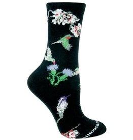 Socks - Hummingbirds on Black