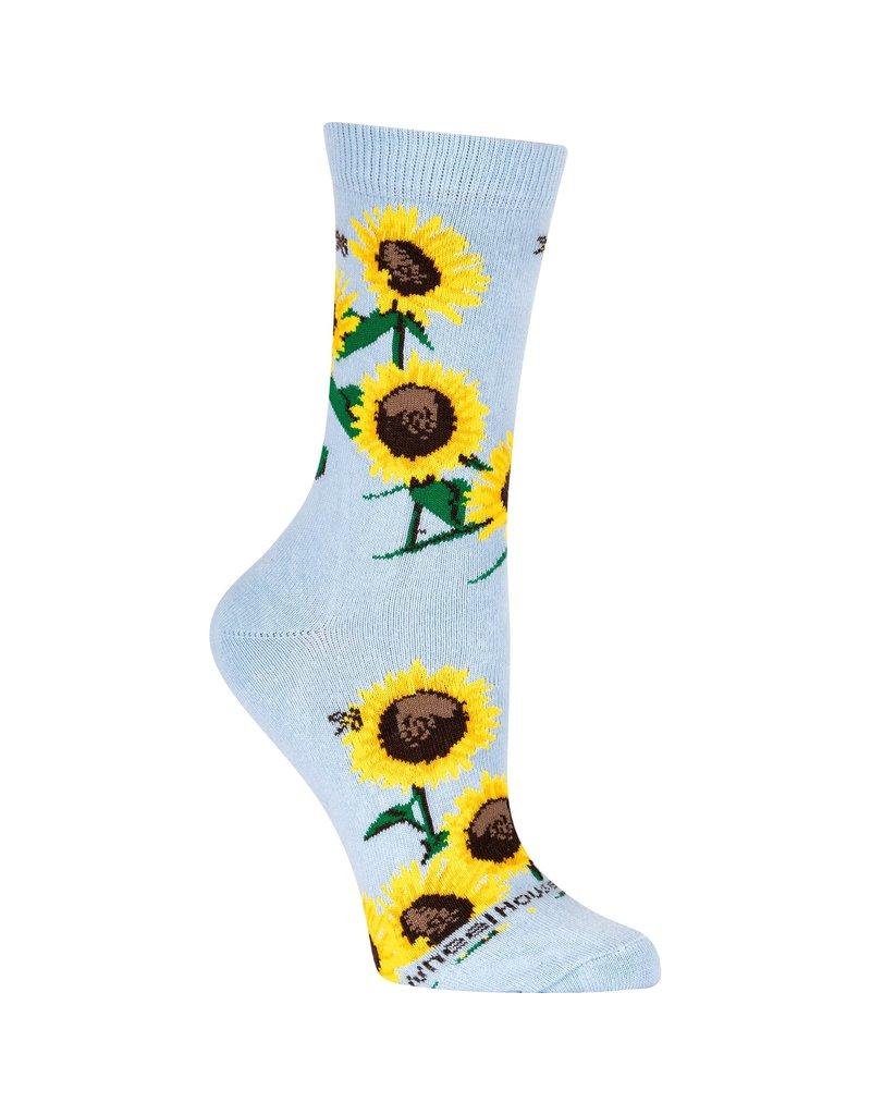 Socks - Sunflowers on Light Blue