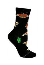 Socks - monarchs on black