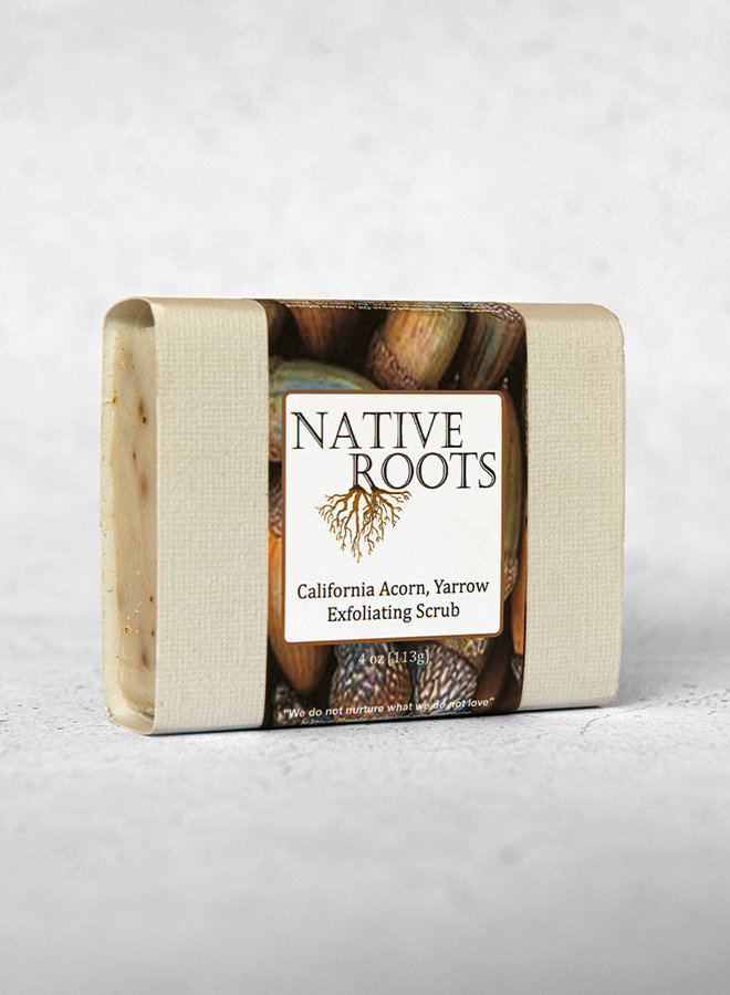 CA Acorn & Yarrow Exfoliating Scrub Soap - Native Roots