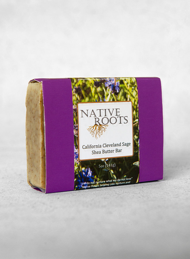NR Shea Butter Bar Soap CA Cleveland Sage