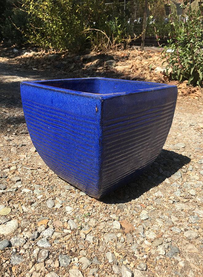 Pot - PS Square Horizontal Lines Blue