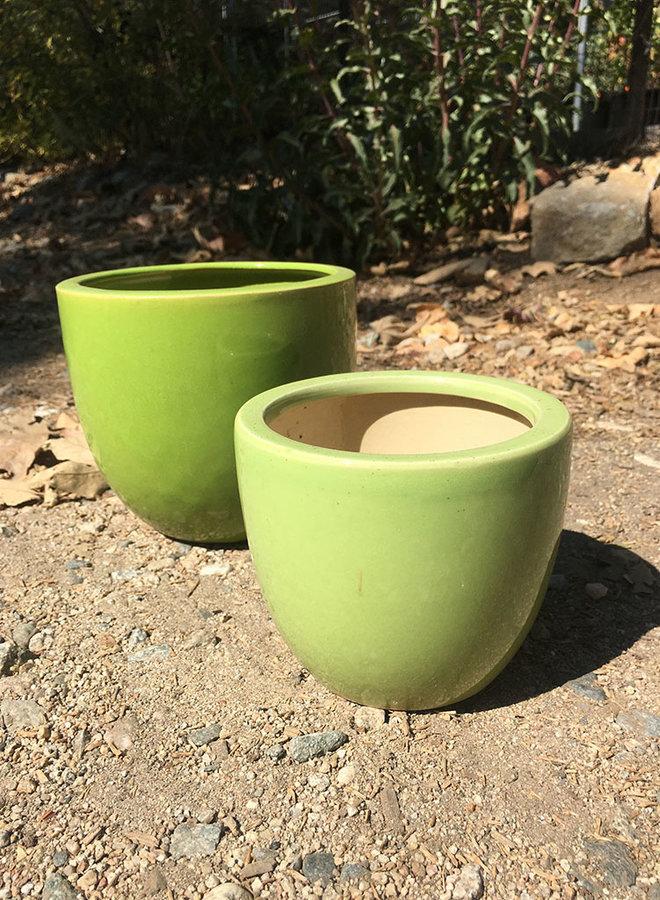 Pot - Small Glazed Egg Green