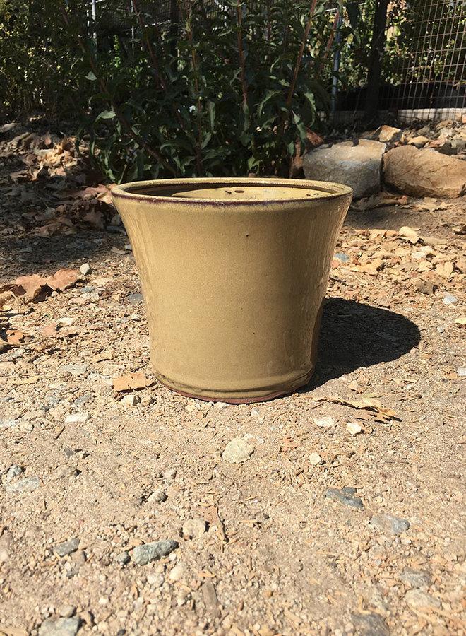 Pot - Glazed Round Olive