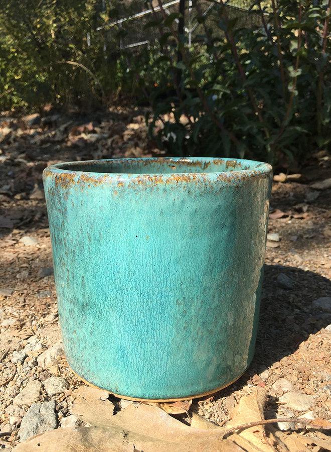 Pot - Glazed Cylinder Turquoise