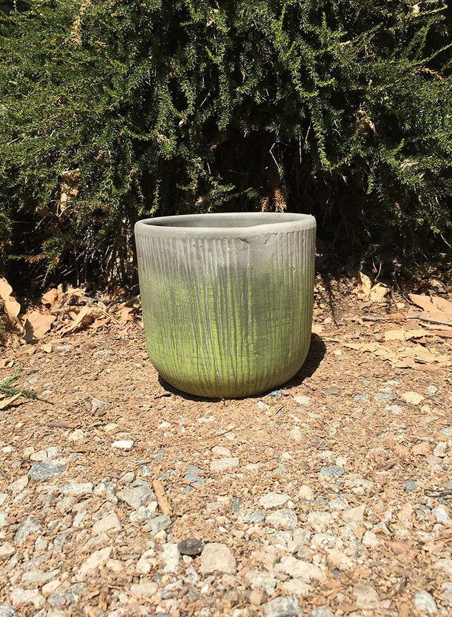 Pot - Bark Design Small Gray Green
