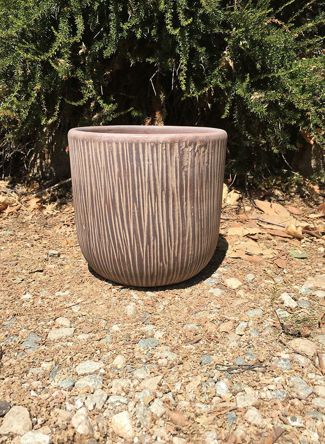 Pot - Bark Design Small Brown