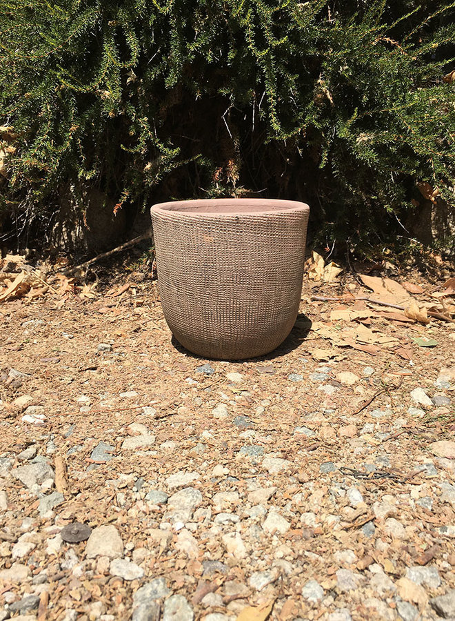 Pot - Design Rounded Cylinder Brown