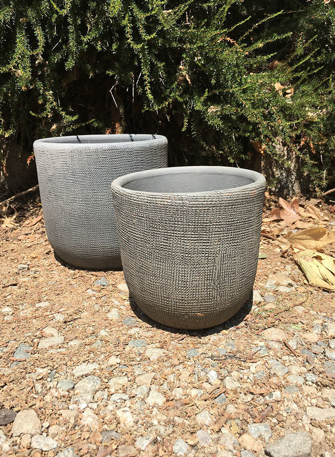 Pot - Design Rounded Cylinder Gray