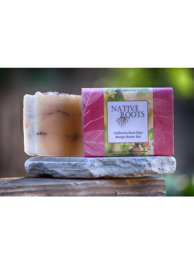 CA Rose Hips & Mango Butter Bar Soap - Native Roots