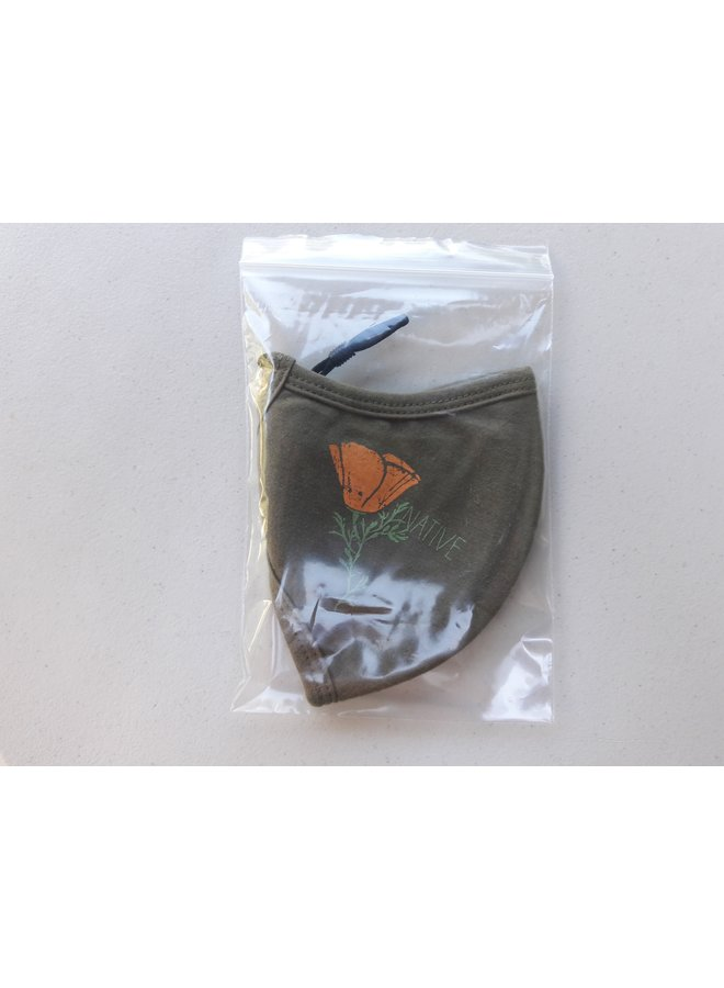 California Native Face Mask - Army Green