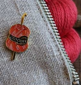Firefly Notes Yarn & Needles Crochet Enamel Pin