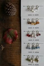 Wool & Wire Wool & Wire Fall Mini Stitch Markers (Set of 6)