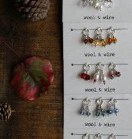 Wool & Wire Wool & Wire Fall Mini Stitch Markers (Set of 6)