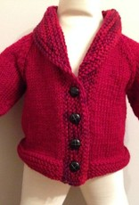 Heart Elbow Patch Cardigan & Hat, Red/ Multi 6-12m