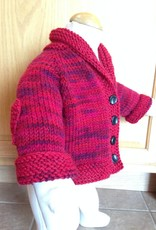 Heart Elbow Patch Cardigan Multi/Red 6-12m