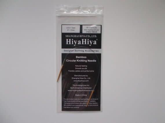 "HiyaHiya HiyaHiya 9"" Bamboo Circular Needles"