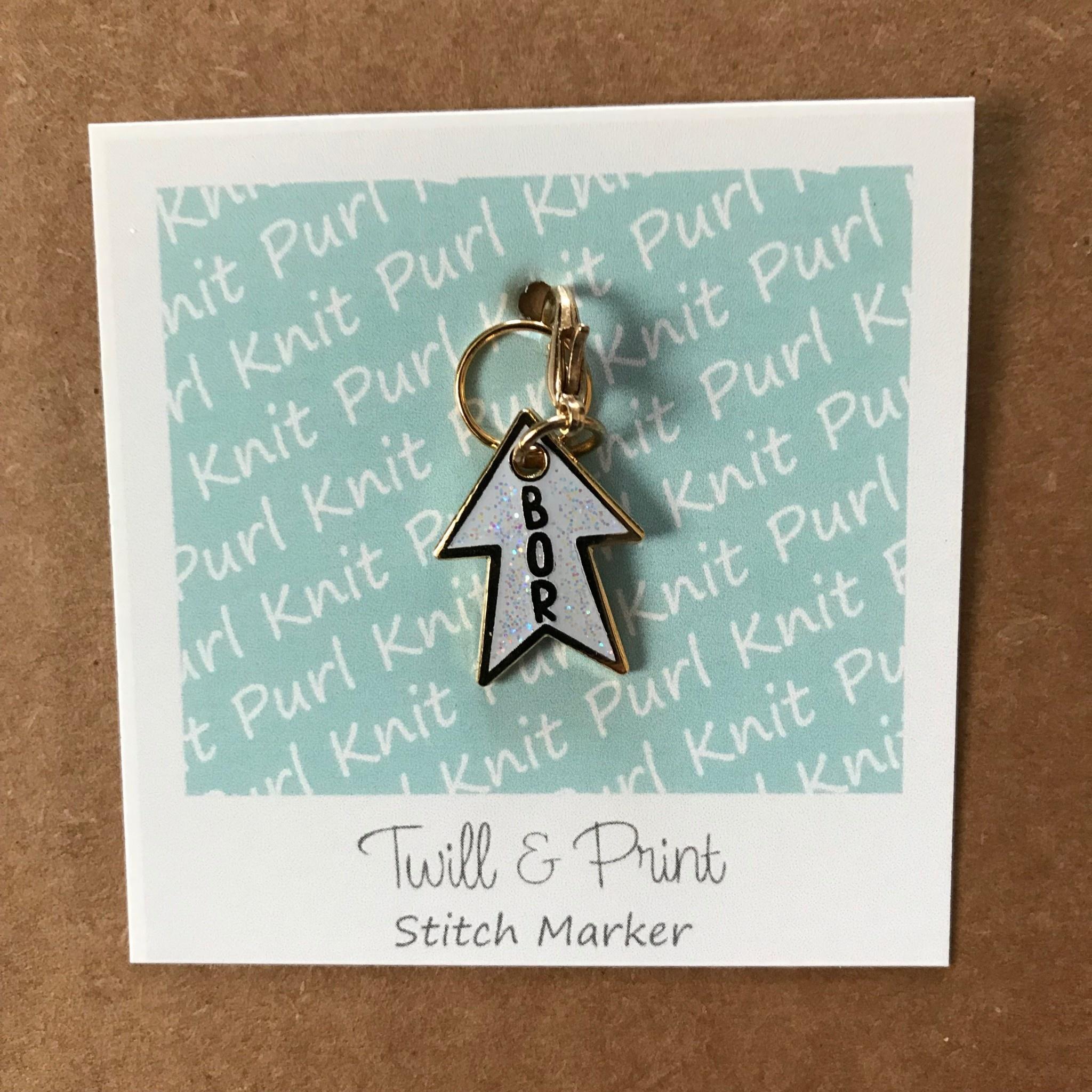 Twill & Print Twill & Print Glitter Star Knitter's Helpers