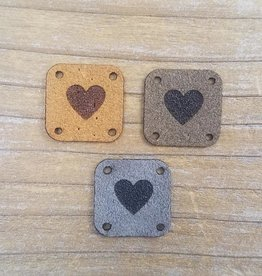 Katrinkles Katrinkles Faux Suede Solid Heart Tags Neutrals