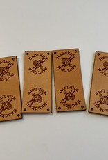 Leather Centre Fold Labels