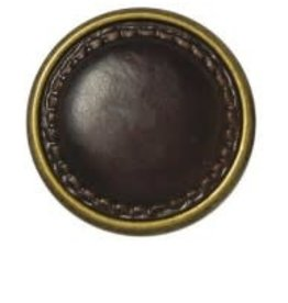 Bergere de France Leather look metal buttons, 22 mm
